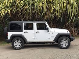 white jeep sahara tan interior priced and outfitted exactly like the jeep we drove on maui our