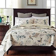 Beige Bedding Sets Amazon Com Brandream American Country Comforter Sets Birds