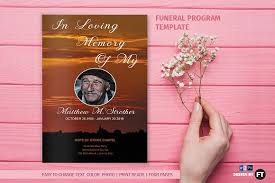 templates for funeral programs funeral program template sunset brochure templates creative