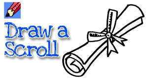graduation diploma how to draw a graduation scroll real easy for kids and beginners