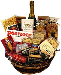non food gift baskets office party gift basket with martinelli s sparking