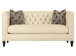 Button Tufted Sofa by Bernhardt Interiors Sofas Contemporary Leather Beckett Loveseat