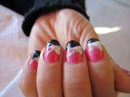 14 black white and pink nail designs pink and black