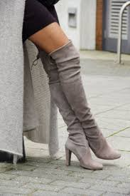 light grey suede boots trending fashion with suede boots bingefashion