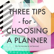 five sixteenths blog three tips for choosing a planner