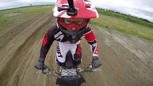 motocross helmet cam dirt bike helmet cam big jump slow motion stock video footage