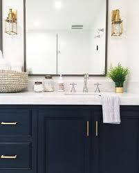 White Bathroom Cabinets by Navy Vanity Gold Hardware Marble Vanity Gold Sconces