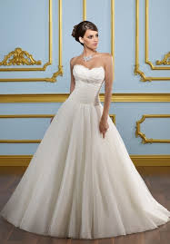 simple organza ball gown wedding dress with sweetheart neckline