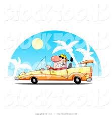 cartoon convertible car stock cartoon of a rich blond dude driving convertible yellow car