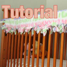 no sew tied quilted crib rail guard tutorial tm by newenglandquilter