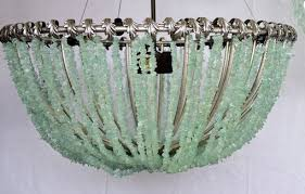 Sea Glass Chandelier Buy A Hand Crafted François Au Courant Interiors Llc 20