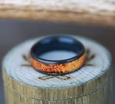 black zirconium u0026 burnt henge wedding band handcrafted by