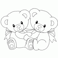 coloring pages teddy bear coloring home