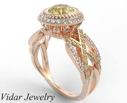 fancy yellow diamond engagement rings fancy canary yellow diamond ring colored diamond rings vidar