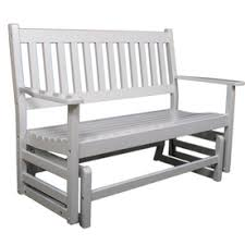188 at lowes garden treasures 4 u0027 white porch glider now that is