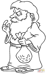judas iscariot coloring page free printable coloring pages