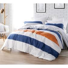 Orange And White Comforter Sweet Jojo Designs Navy Blue And Orange Stripe 3 Piece Comforter