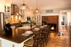 furniture red brick backsplash with beadboard and white kitchen