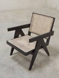 mid century design inspired easy armchair in black for sale at