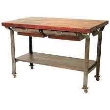 butcher block kitchen island table vintage industrial butcher block kitchen island pertaining to work