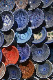 plates for sale stock photo image of tunisian pottery 57447748