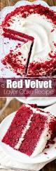 red velvet layer cake with cream cheese frosting recipe