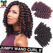 Curly Braiding Hair Extensions by Aliexpress Com Buy Crochet Braid Fluffy Wand Curl Jumpy Jamaican