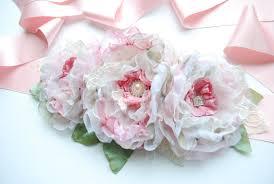 romantic roses flowers satin sash bridal sash bridal belt