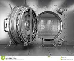 chambre forte ouvrez la porte de chambre forte de banque illustration stock