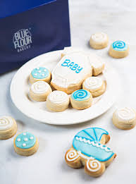 baby shower cookies baby shower cookies box blue flour bakery