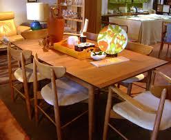 dark brown scandinavian teak dining room furniture with square