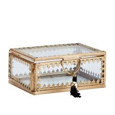 madam stoltz lovely golden jewellery box in bohemian spirit