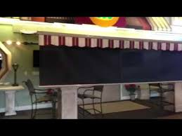 Marygrove Awnings Marygrove Awnings Drop Screen Retractable Awning Demo Youtube
