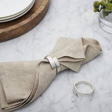 crate and barrel napkins wrap silver napkin ring in napkin rings place card holders