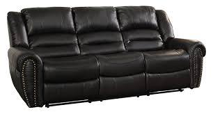 Reclining Sofa Leather Black Leather Recliner Sofa Mforum