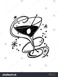 retro martini glass cocktail glass retro clip art stock vector 56253559 shutterstock