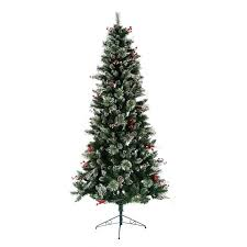 the aisle snow tipped berry 7 green pine artificial
