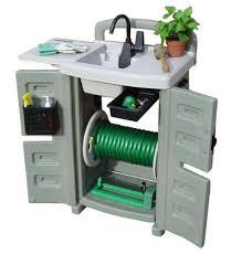 backyard gear outdoor sink amazon com backyard gear wc100 water station with outdoor sink