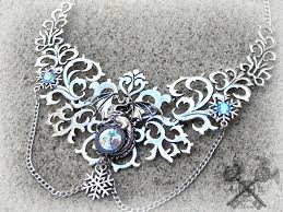 dragon necklace skyrim images Crystal ice dragon statement necklace by artbystarlamoore on jpg
