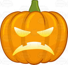 halloween pumpkin cartoons an angered illuminated halloween pumpkin cartoon clipart vector