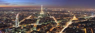 famous landmarks satellite view of the eiffel tower paris