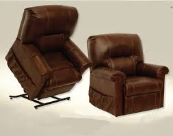 Catnapper Leather Reclining Sofa Catnapper Vintage Leather Power Lift Recliner Cn9779
