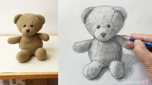 how to draw a teddy bear youtube