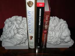 lion book ends sleeping lion bookends st augustine lions