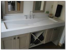 double faucet trough sink vanity sinks and faucets home design