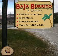 baja burrito company home killington vermont menu prices