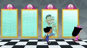 image scary funhouse mirror reflection jpg phineas and ferb