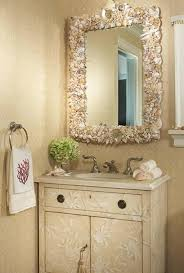 beach themed bathroom decor gives calming feelings and beach