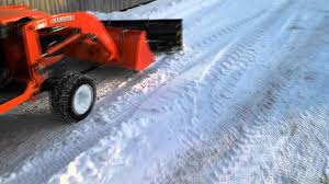 snow blade on kubota tractor youtube