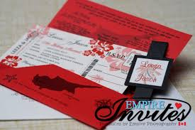 Boarding Pass Wedding Invitations Red Boarding Pass Wedding Invitations To Almyra Hotel Cyprus